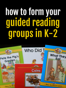 4 Steps to forming guided reading groups