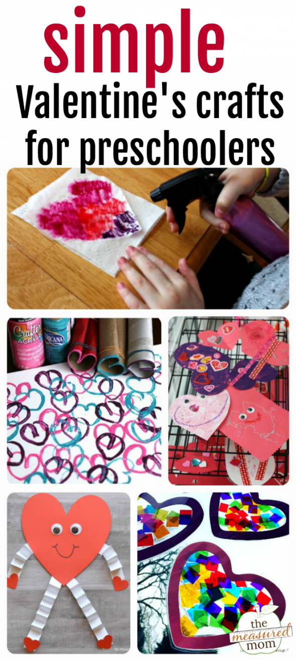 This post has ten simple Valentine crafts for preschoolers - using items you probably already have!