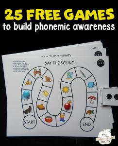 25 free phonemic awareness games!