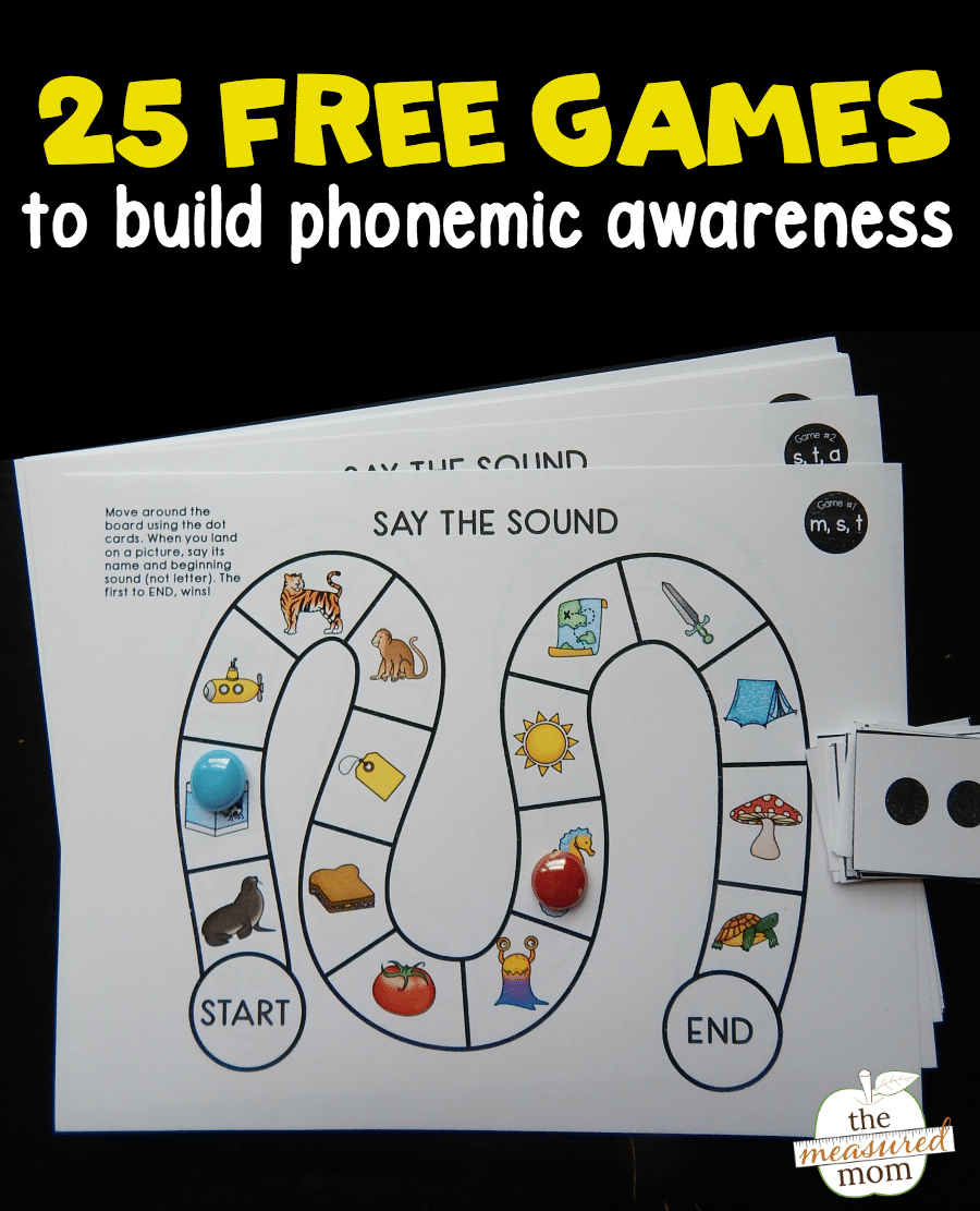 image regarding Phonemic Awareness Printable Games referred to as 25 cost-free phonemic know-how video games! - The Calculated Mother