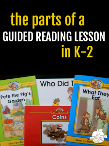 The parts of a guided reading lesson