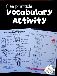 Review vocabulary with this fun learning center!
