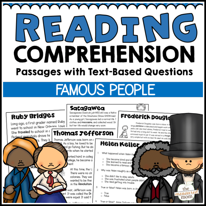 36 Reading Comprehension Passages about Famous People
