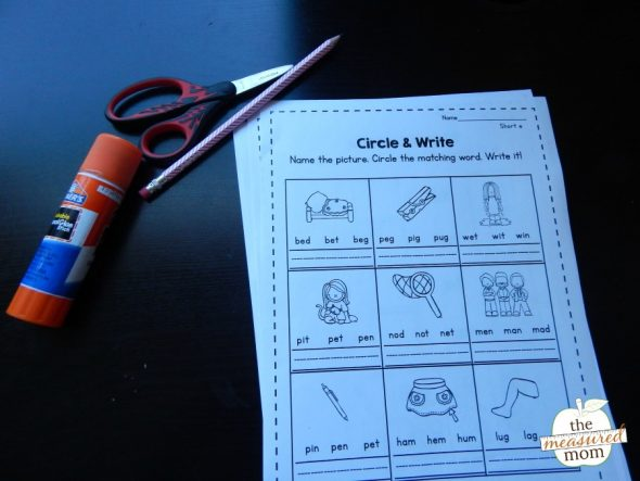 Grab this set of free short e worksheets!