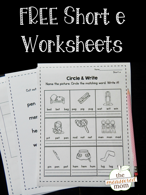 Free Short E Worksheets The Measured Mom. Grab This Set Of Free Short E Worksheets. Kindergarten. Short I Worksheets For Kindergarten At Clickcart.co