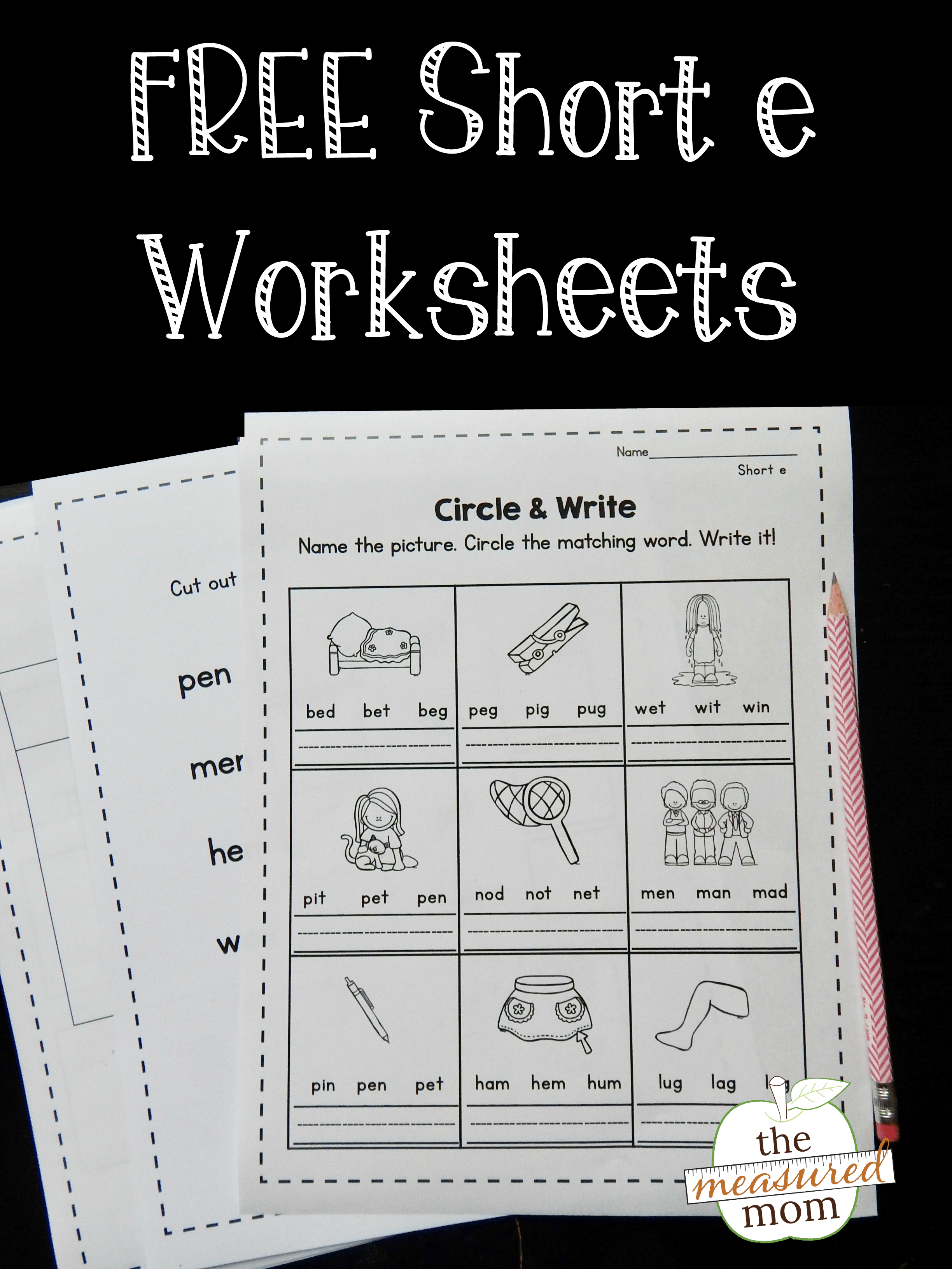 free short e worksheets the measured mom. Black Bedroom Furniture Sets. Home Design Ideas