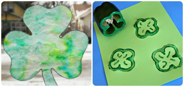 Find ten St. Patrick's Day crafts for preschoolers - low on prep, high on fun!