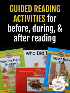 Before, during & after guided reading activities