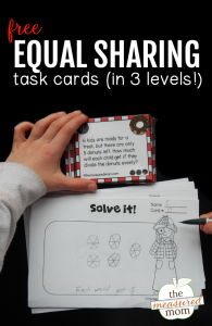 Free equal sharing task cards