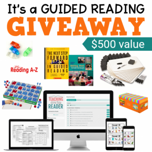 It's a guided reading giveaway worth $500!