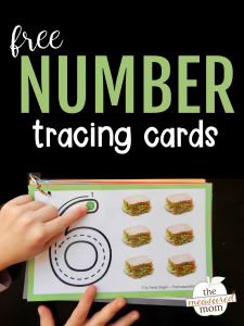 Free number tracing cards!