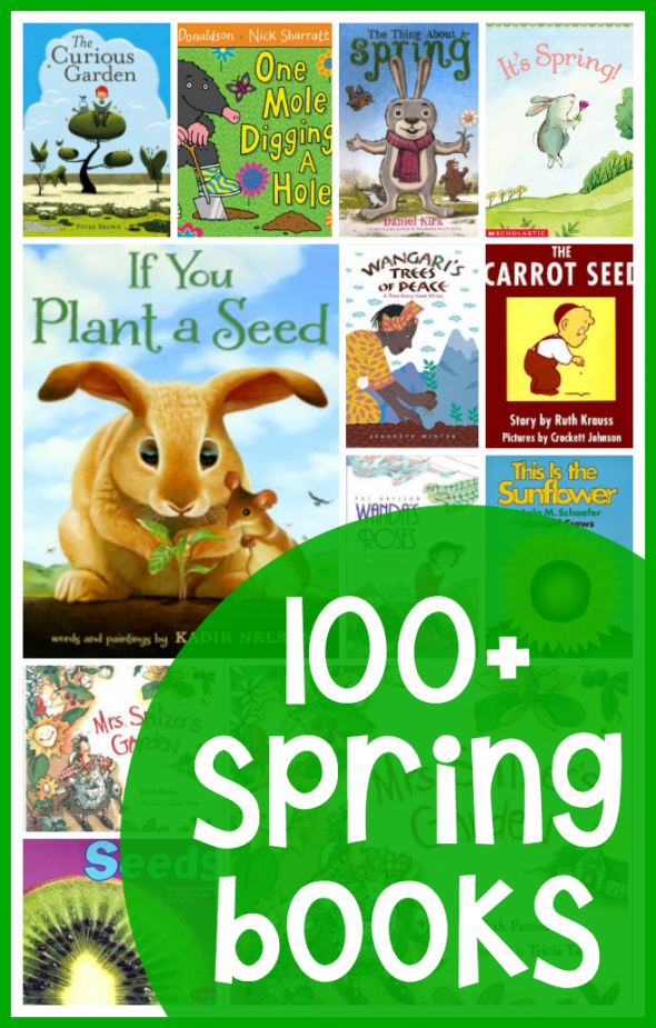 Looking for books about spring for preschool and kindergarten? We've got more than 100!