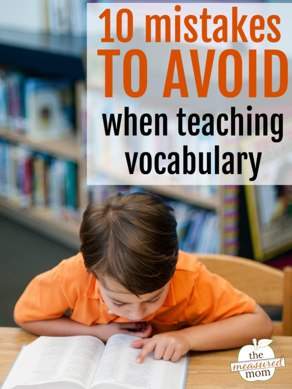 mistakes to avoid when teaching vocabulary