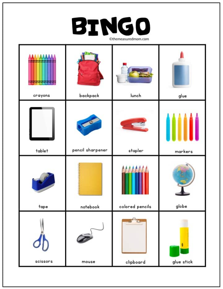 School supplies, key included worksheet - Free ESL ... |Esl Classroom Supplies