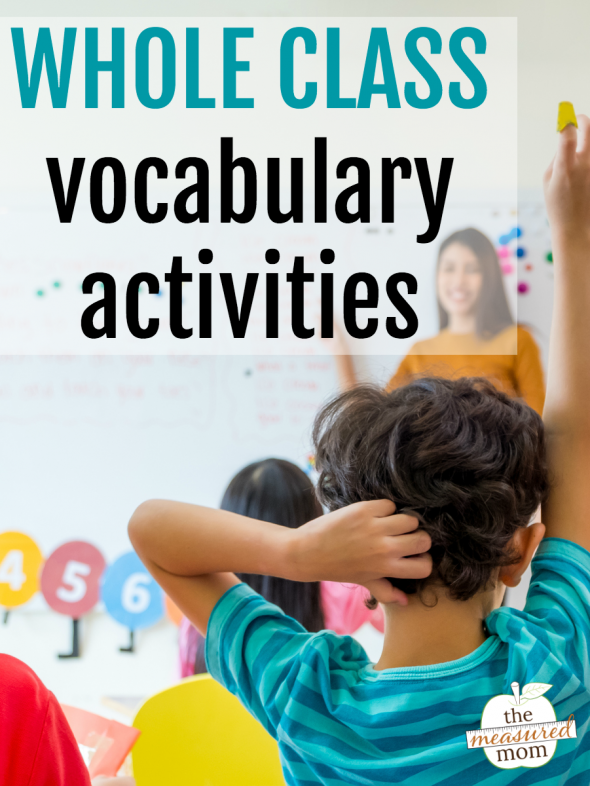 Here are six simple whole class vocabulary activities - each one takes only a few minutes!