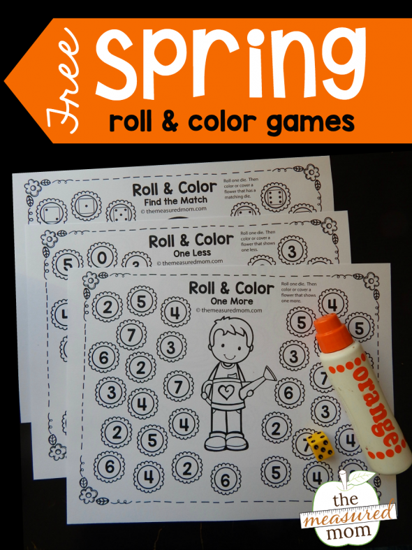Free spring roll & color games - The Measured Mom