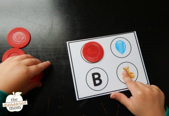 Grab these free cards to introduce letters and build vocabulary!