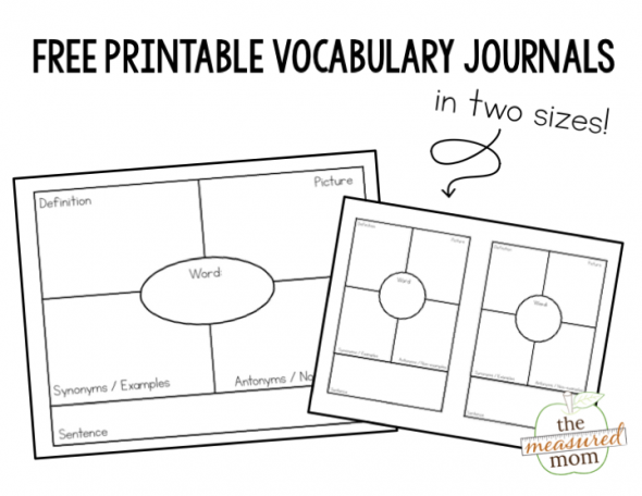 How to use vocabulary journals in grades 1-5 (with freebies