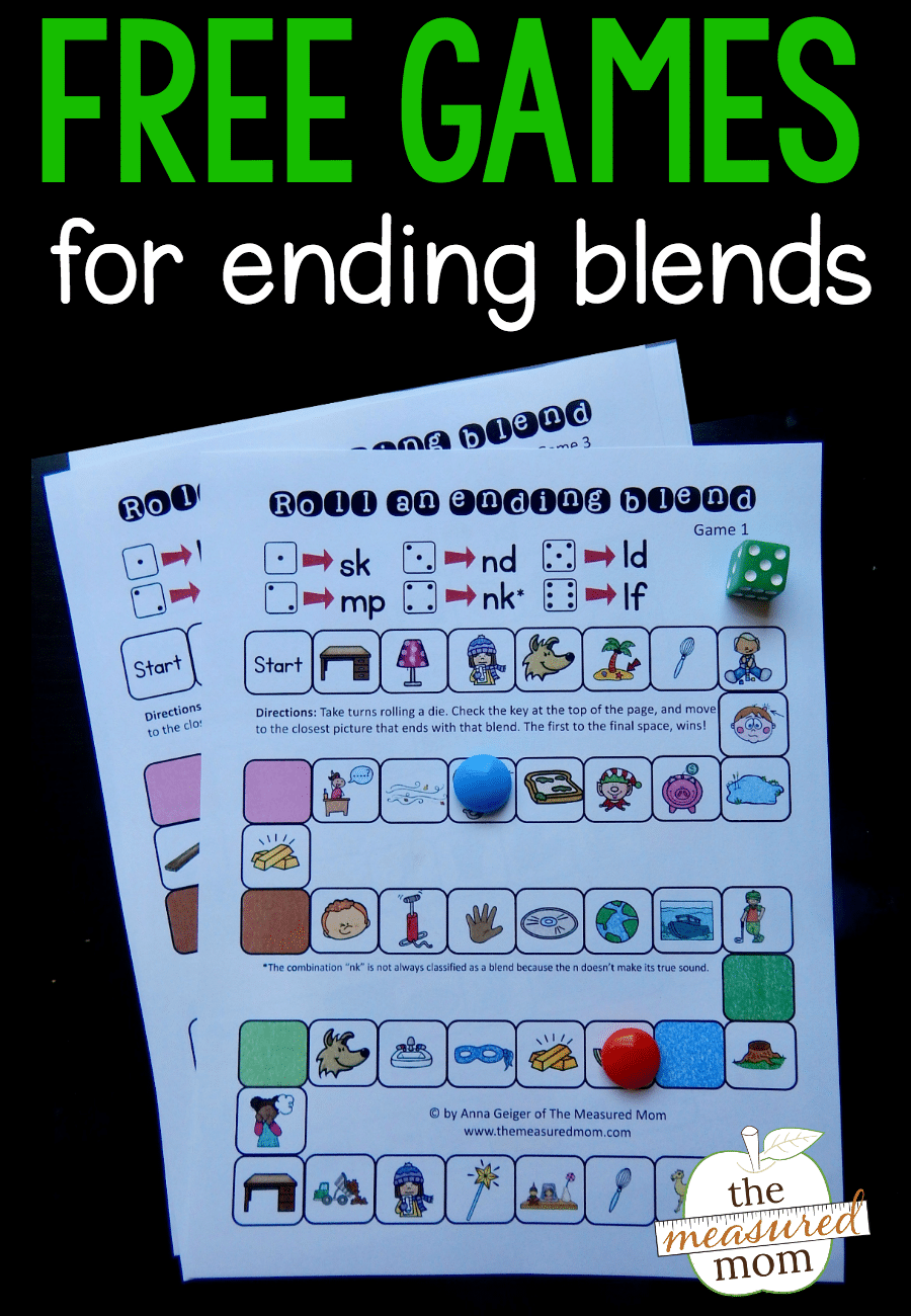 Free Games for Ending Blends - The Measured Mom