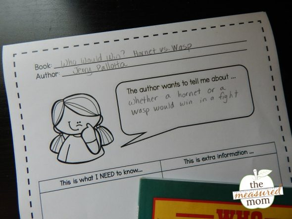 Learn how to teach the important reading strategy of determining importance. Get a free printable, too!