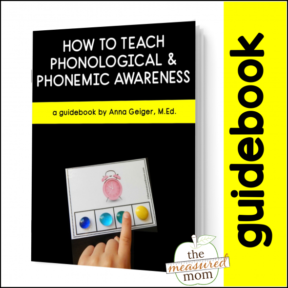 a promotional image for a guidebook about phonological and phonemic awareness