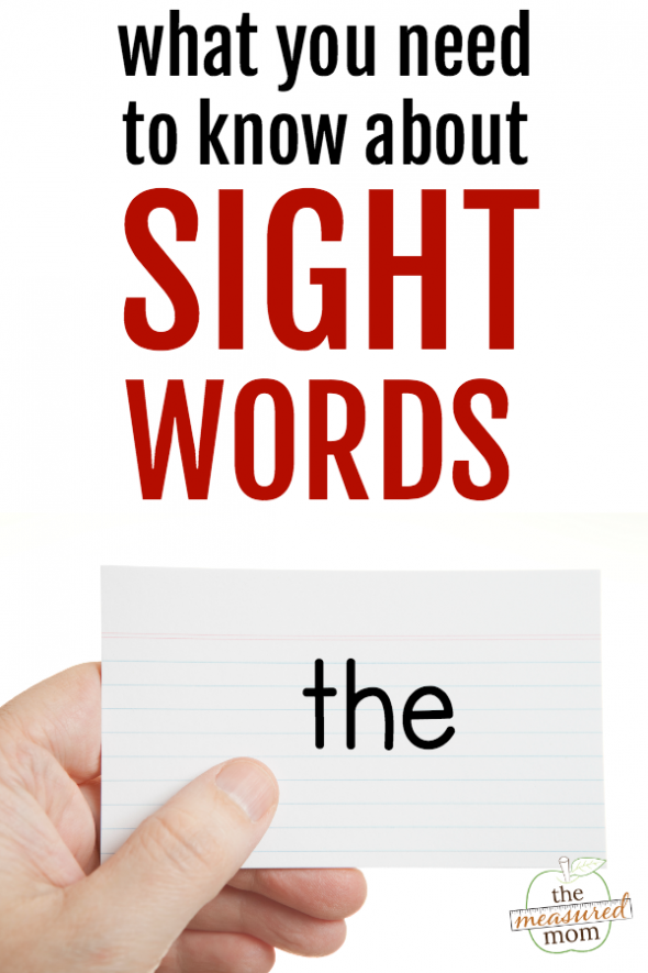 picture of image promoting a post about sight words