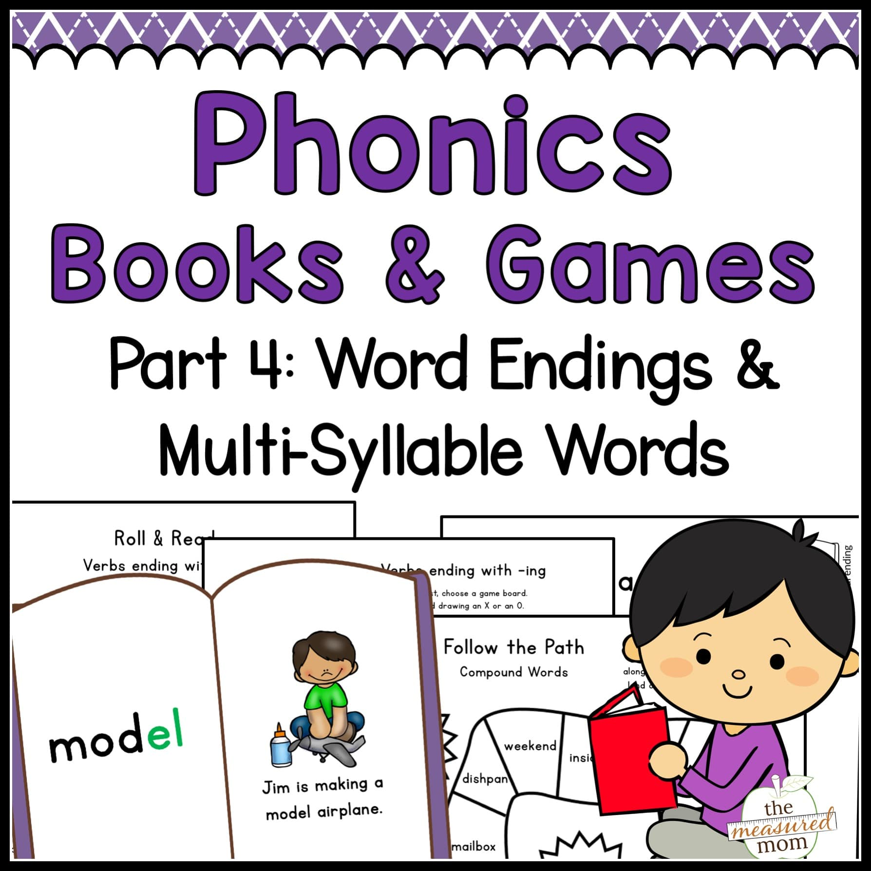 photograph regarding Syllable Games Printable named Phonics Textbooks Online games: Term Endings Multi-Syllable Words and phrases - Distinctive Provide