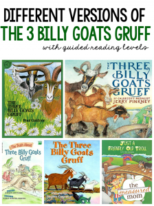 Different versions of The Three Billy Goats Gruff