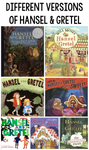 Different versions of Hansel and Gretel
