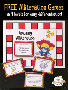 Free alliteration activities for kids (grades 2-5)