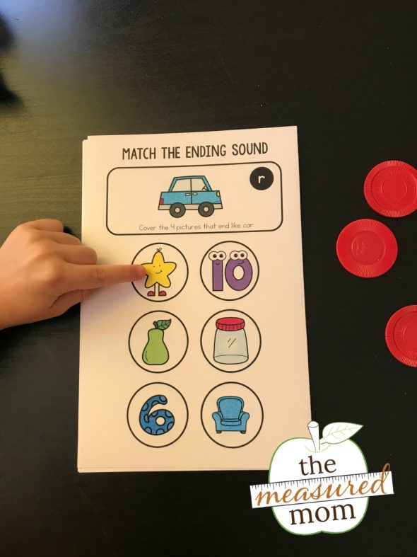 Free Ending Sounds Activity The Measured Mom