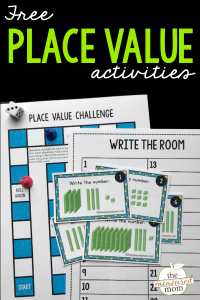 Free place value game for 2nd grade