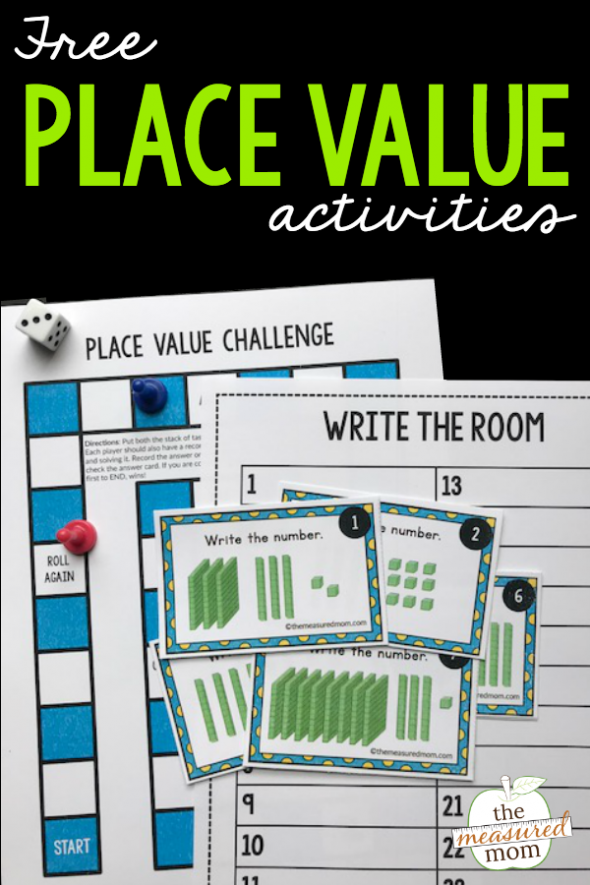 Free place value game for 2nd grade - The Measured Mom