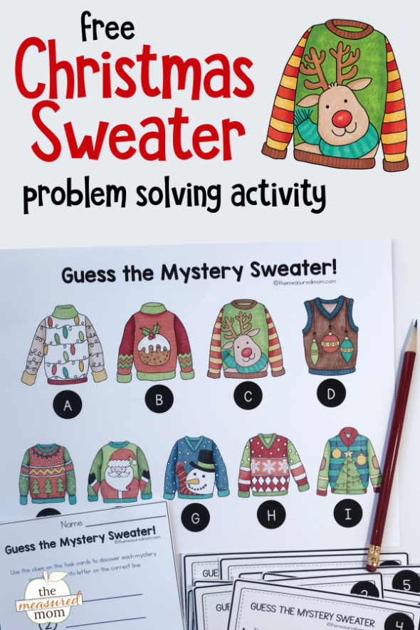 Christmas sweater problem solving activity