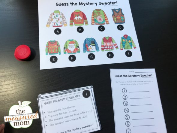 Picture of Christmas sweater problem solving activity