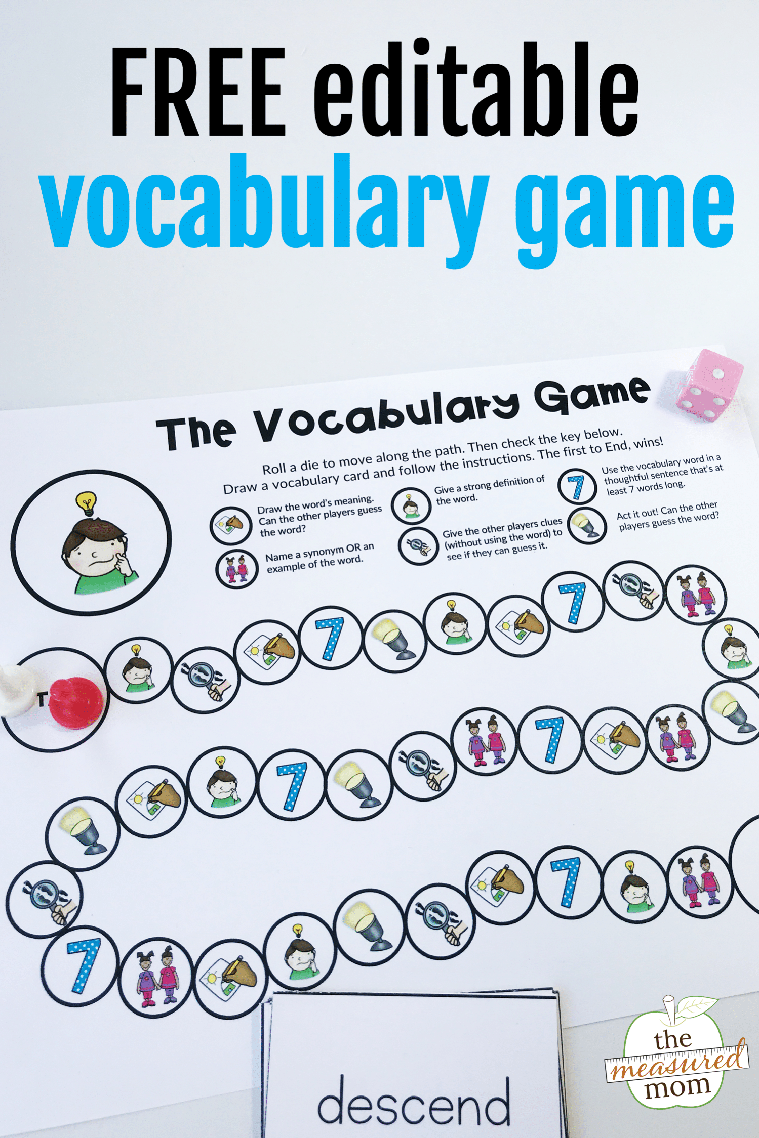- Free Printable Vocabulary Game For Grades 3-5 (editable!) - The