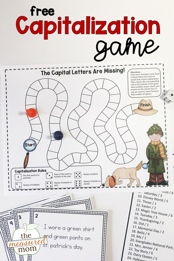 Capital Letter Beginning Sentence.Free Capitalization Game To Teach Capitalization Rules The