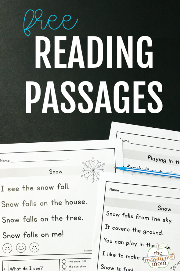 Reading Comprehension Passages For Early Readers - The Measured Mom