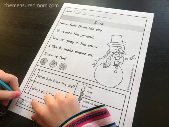 Reading comprehension passages for early readers - The ...