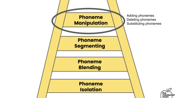 Ladder visual for the levels of phonemic awareness